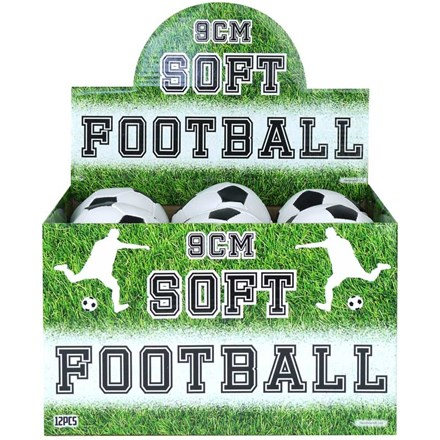 SOFT FOOTBALL - BLACK AND WHITE - 9CM