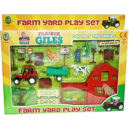 FARMYARD PLAY SET - 2 ASST