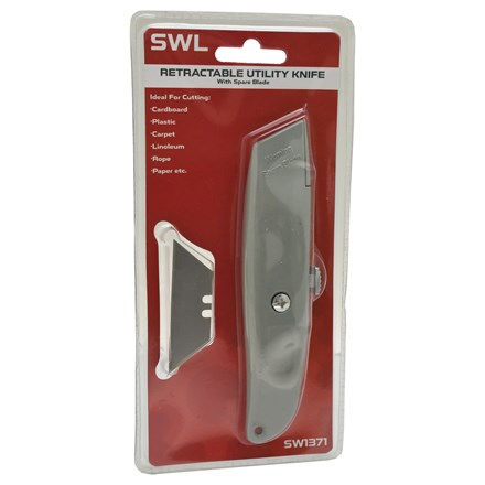 SWL - RETRACTABLE UTILITY KNIFE WITH BLADES