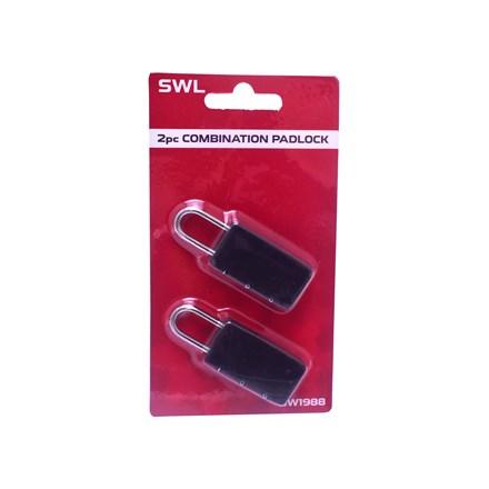 SWL - 3 DIGIT COMBINATION PADLOCK - 2 PACK