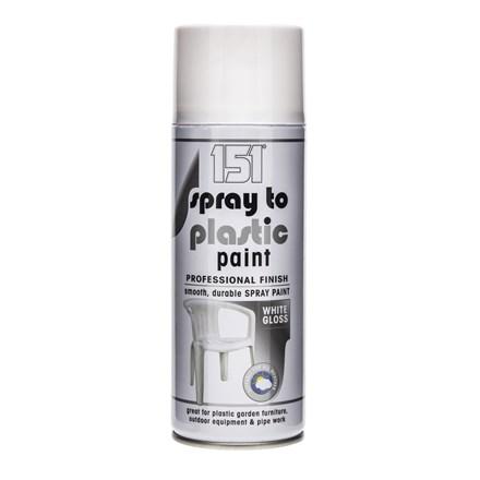 151 SPRAY TO PLASTIC SPRAY PAINT - WHITE GLOSS