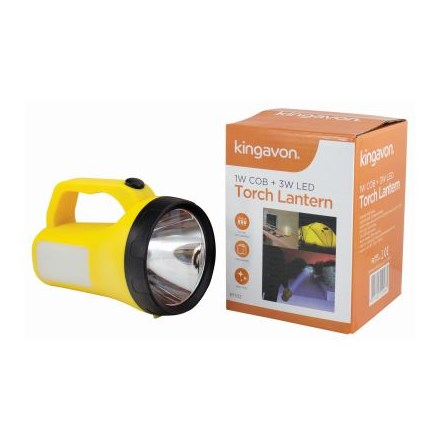 KINGAVON - 1W COB & 3W LED TORCH LANTERN