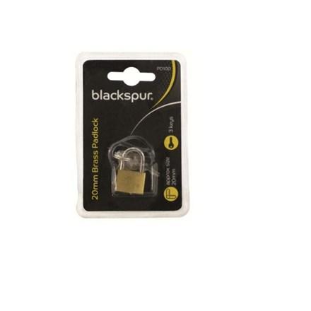 BLACKSPUR - BRASS PADLOCK 20MM
