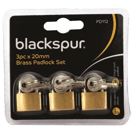 BLACKSPUR - 20MM BRASS PADLOCK - 3 PACK