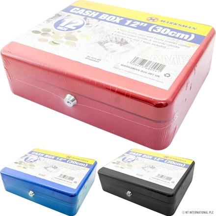 """MARKSMAN - 12"""" CASH BOX - 3 ASST"""