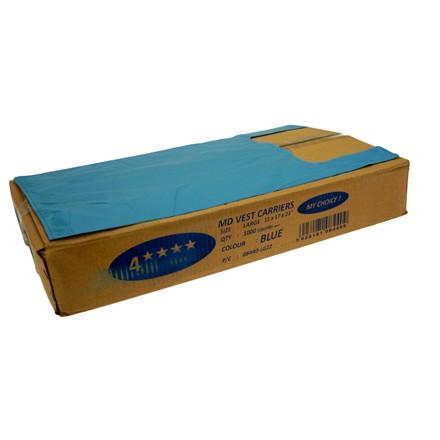 CARRIER BAG BLUE 4 STAR (100)