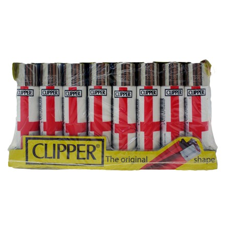 CLIPPER LIGHTERS - ENGLAND FLAG - 40 PACK