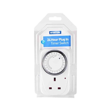 STATUS - 24 HOUR PLUG-IN TIMER
