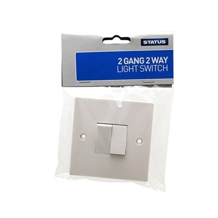 PIFCO - 2 GANG 2 WAY WALL SWITCH
