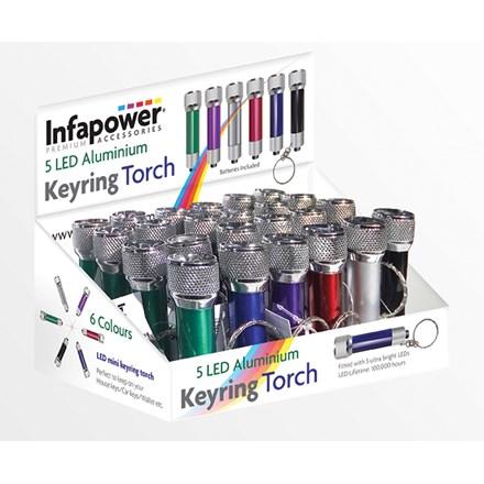 INFAPOWER - 5 LED ALUMINUM TORCH