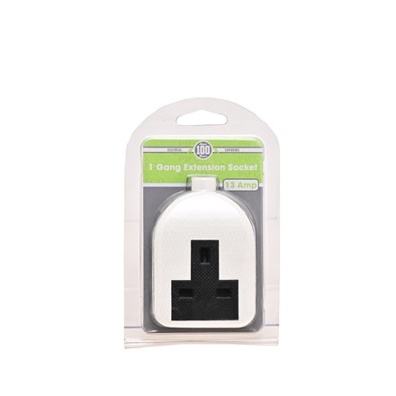 PIFCO - 1 GANG 13AMP RUBBER EXTENSION SOCKET