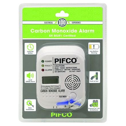 PIFCO - CARBON MONOXIDE ALARM BATTERY INCLUDED