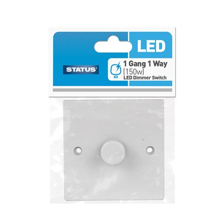 STATUS - 1 GANG 1 WAY LED DIMMER SWITCH - 150W