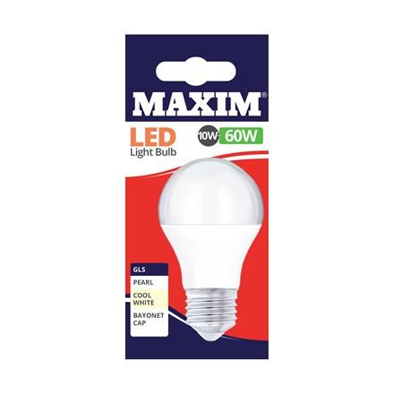 MAXIM LED BULB - GLS COOL WHITE - ES 10W/60W
