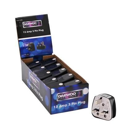 DAEWOO / PIFCO - 3 PIN PLUG - BLACK