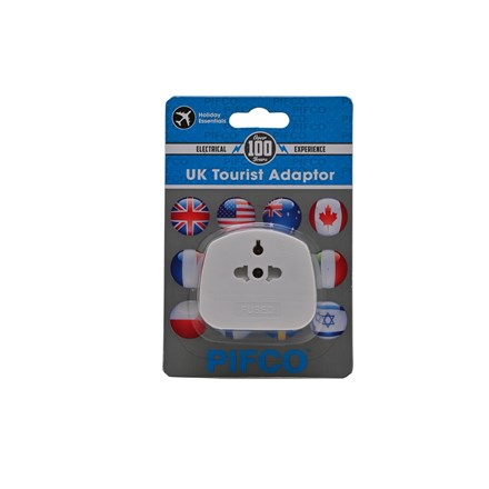 PIFCO -  UK TOURIST ADAPTOR - CARDED