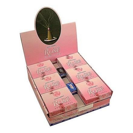 SATYA - DHOOP CONES FRESH ROSE - 12 PACK
