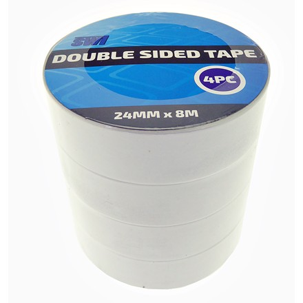 SWL - DOUBLE SIDED TAPE 24MM X 8M - 4 PACK