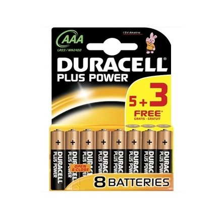 DURACELL PLUS POWER - AAA- 8 PACK