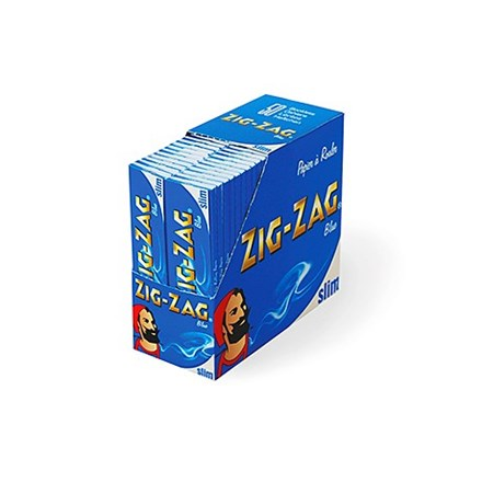 ZIG ZAG KING SIZE BLUE - 50 PACK