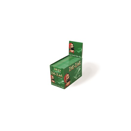 ZIG ZAG GREEN REGULAR SIZE PAPERS - 100 PACK
