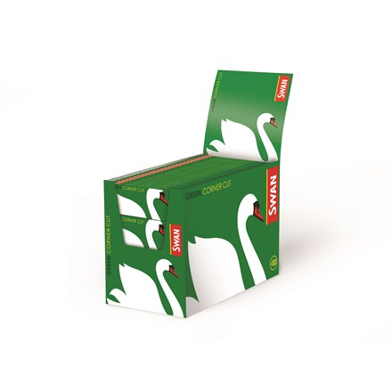 SWAN GREEN REGULAR SIZE PAPERS - 100 PACK