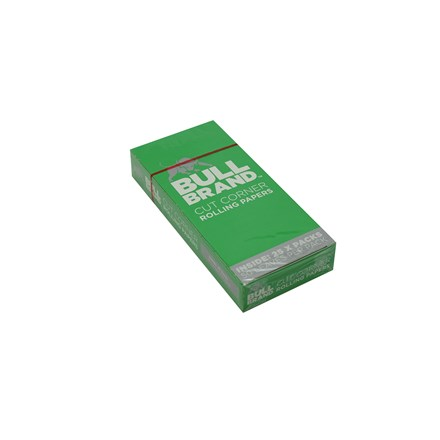BULL BRAND GREEN REGULAR SIZE PAPERS - 25 PACK