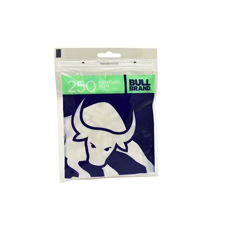 BULL BRAND MENTHOL FILTERS - 250 TIPS PACK