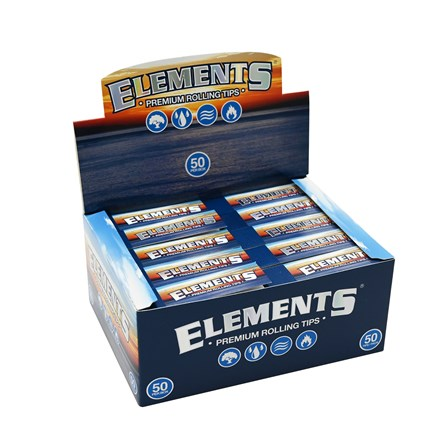 ELEMENTS ROLLING PAPER TIPS - 50 PACK