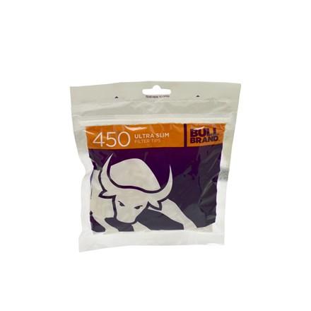 BULL BRAND ULTRA SLIM FILTERS - 450 TIPS PACK