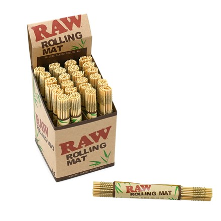 RAW BAMBOO ROLLING MAT - 24 PACK