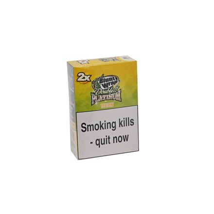 DOUBLE PLATINUM 2X YELLOW BLUNT WRAPS - 25 PACK