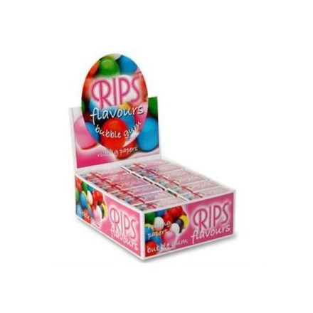 RIPS - BUBBLE GUM FLAVOURED PAPERS - 24 PACK
