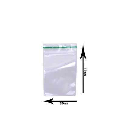 30 X 40MM CLEAR BAGS