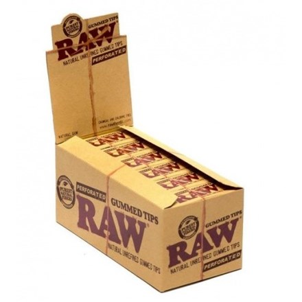 RAW GUMMED TIPS PERFORATED - 24 PACK
