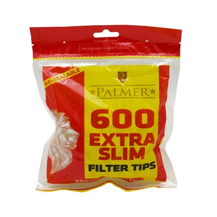 PALMER EXTRA SLIM FILTERS - 600 TIP PACK