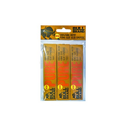 BULL BRAND PURE KING SIZE SLIM PAPERS - 3 PACK
