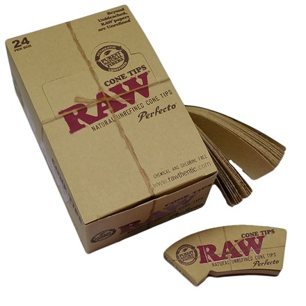 RAW CONE-SHAPED PAPER TIPS - 24 PACK