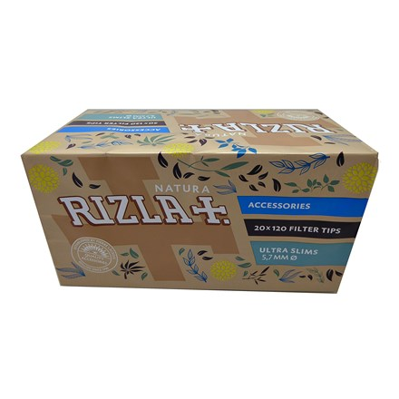 RIZLA NATURA ULTRA SLIM FILTER TIPS - 20 PACK