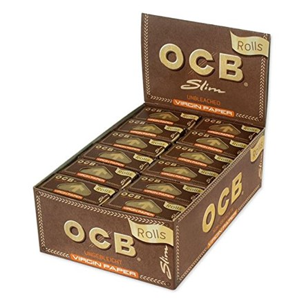 OCB UNBLEACHED SLIM ROLLS - 24 PACK