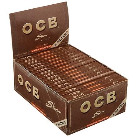 OCB VIRGIN CONNOISSEURS SLIM PAPERS+TIPS - 32 PACK