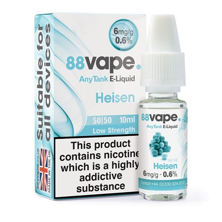 88 VAPE ANYTANK - HEISEN 6MG 50/50 MIX