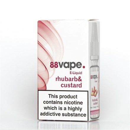 88 VAPE E-LIQUID 16MG RHUBARB & CUSTARD 10ML
