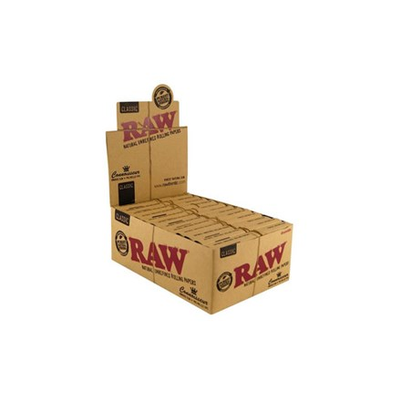RAW CLASSIC CONNISSEUR K/S SLIM + PRE-ROLLED TIPS