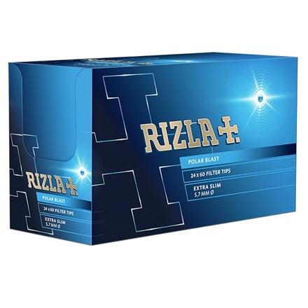 RIZLA POLAR BLAST EXTRA SLIM FILTER TIPS - 24 PACK