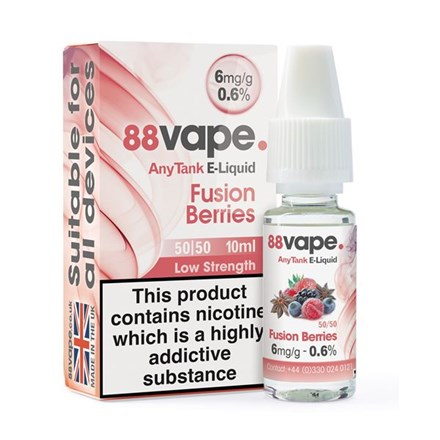 88 VAPE ANYTANK - 6MG FUSION BERRIES 10ML