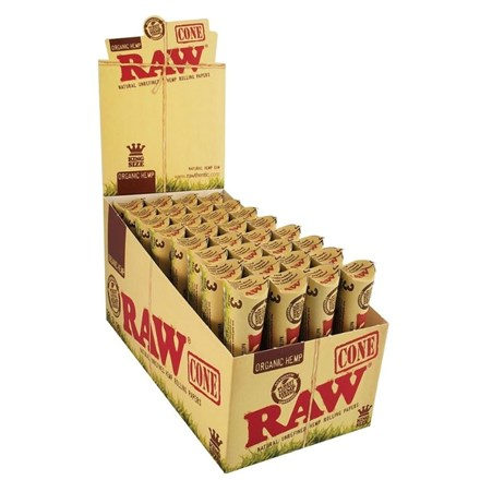 RAW ORGANIC KING SIZE - 3 PACK CONES