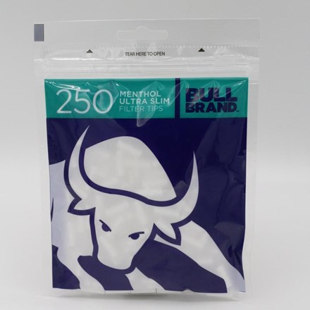 BULL BRAND ULTRA SLIM MENTHOL FILTERS - 250 TIPS