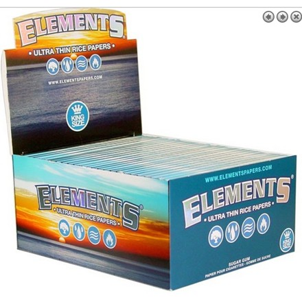 ELEMENTS BLUE KING SIZE PAPERS - 50 PACK