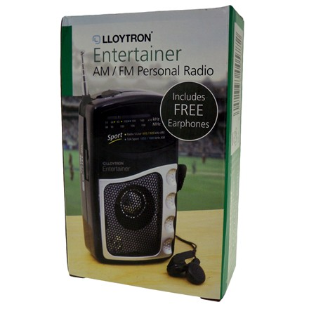 LLOYTRON - AM/FM SPORTS RADIO WITH EARPHONES